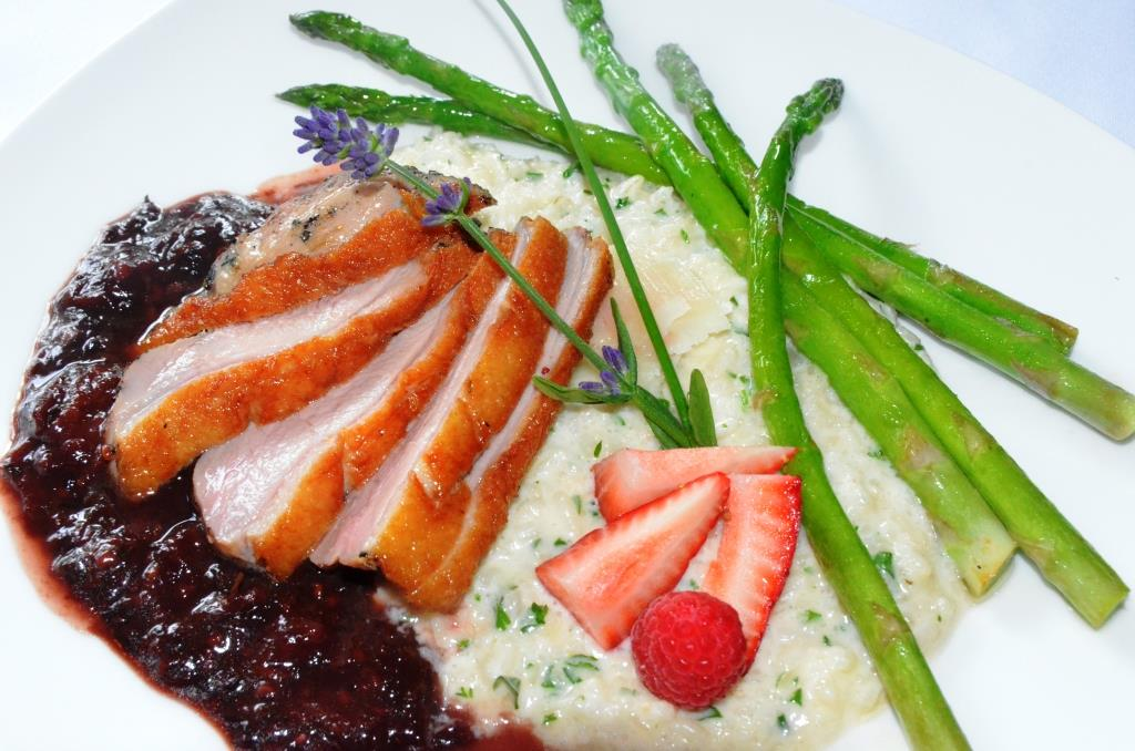 Pan-Seared Duck Breast …three berry, port wine & balsamic demi ...