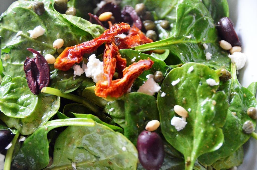 Baby Spinach …pine nuts, feta, sun-dried tomato, kalamata olives ...